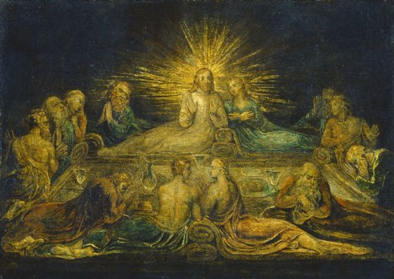 Blake, William: The Last Supper. Fine Art Print/Poster. Sizes: A4/A3/A2/A1 (003551)